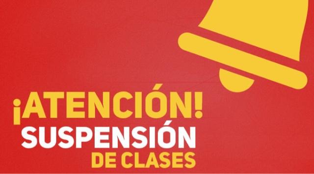 SUSPENSIÓN DE CLASES HOY